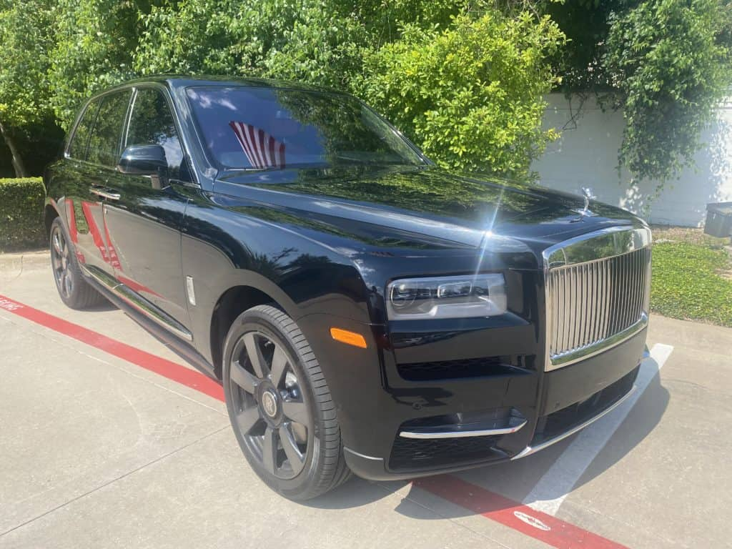 2021 rolls royce cullinan full front ultimate plus ppf prime xr plus tint